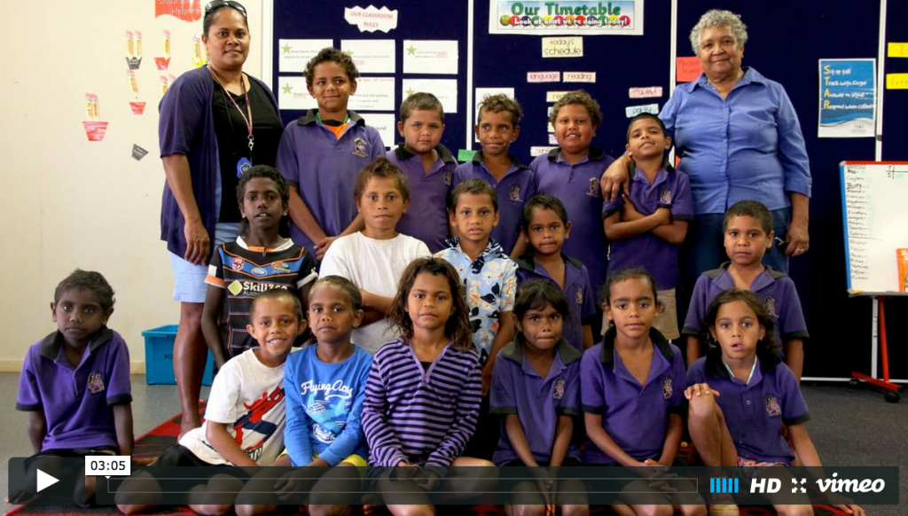 Learning language with Aunty Irean. Photo: Gemma Deavin, ABC Open.